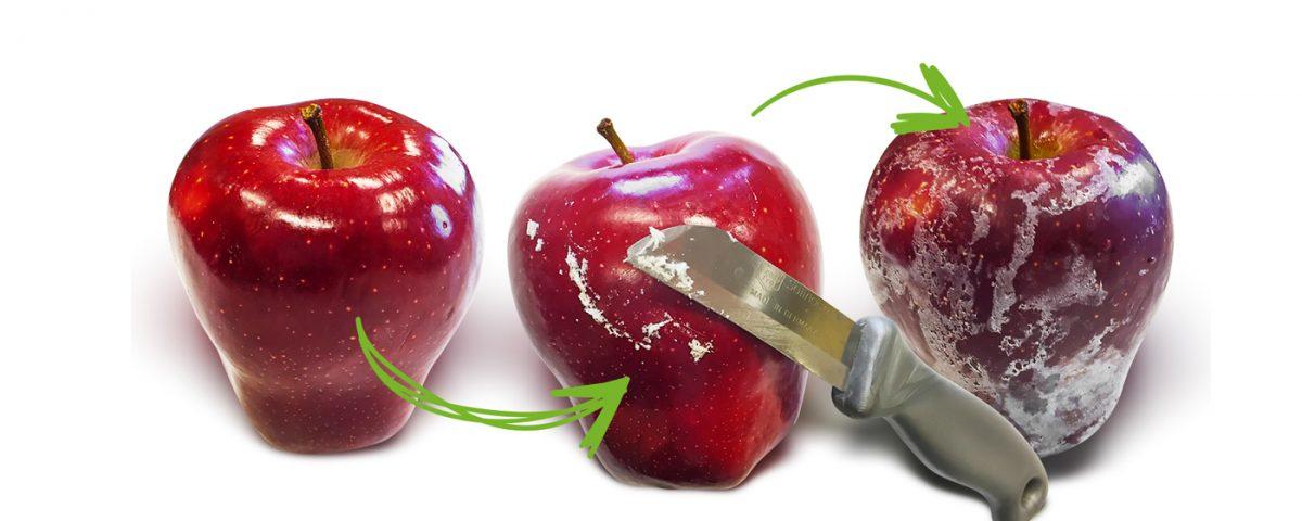 Owoce nacenzurowanym